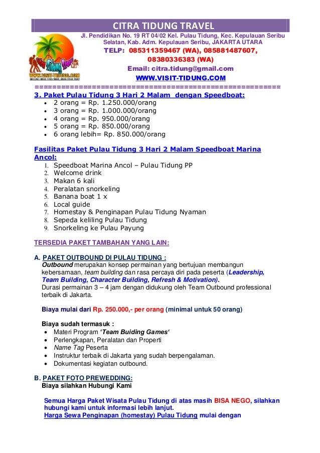 Download Proposal Paket Wisata Murah Slide 3