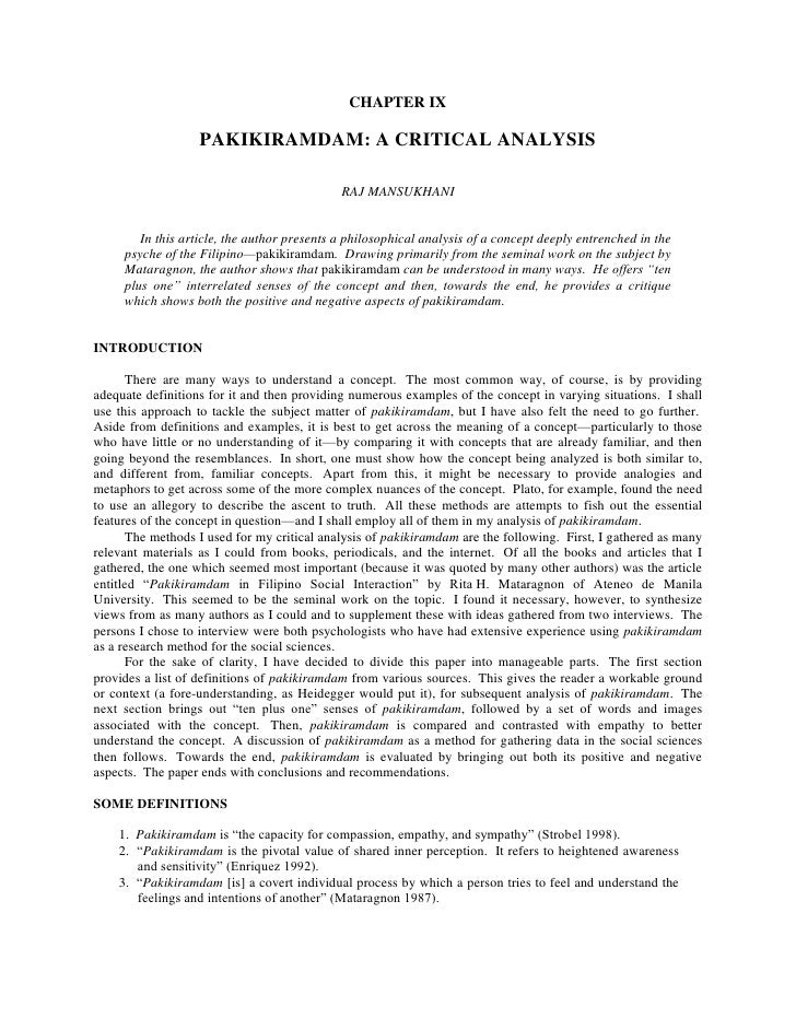 CHAPTER IX<br /> <br />PAKIKIRAMDAM: A CRITICAL ANALYSIS<br /> <br /> <br />RAJ MANSUKHANI<br /> <br /> <br />In this arti...