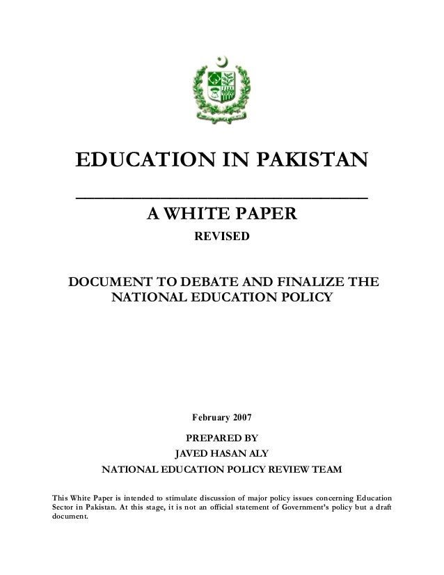Thesis on primary education in pakistan