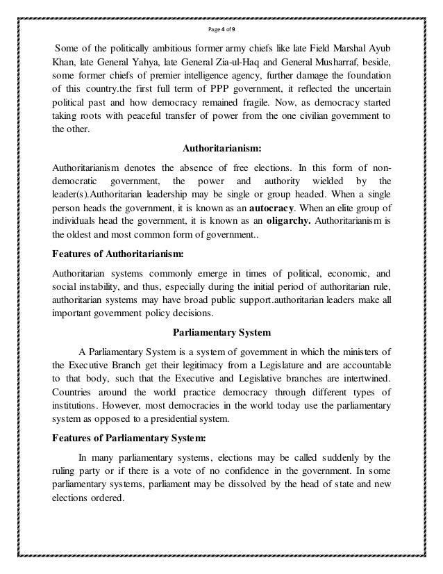 Pakistan political system