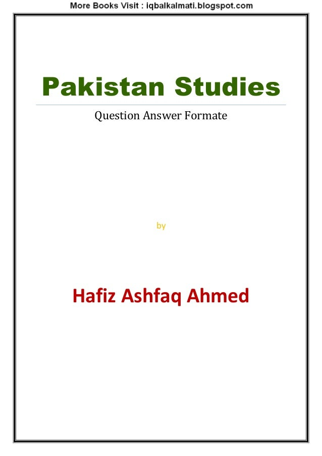pakistan study Persons wishing to study in canada require both a study permit and a   therefore, if, for example, you decide to return to pakistan at any time,.