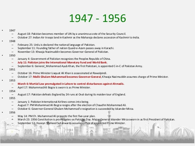 Pakistan a short history of time