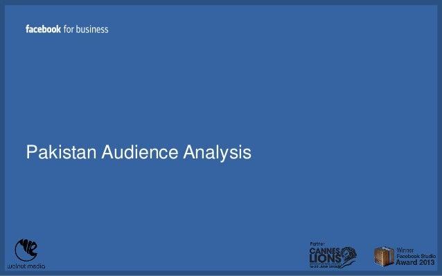 Pakistan Audience Analysis