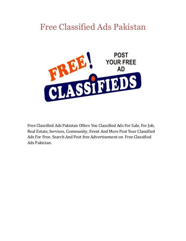 Free Classified Ads Pakistan