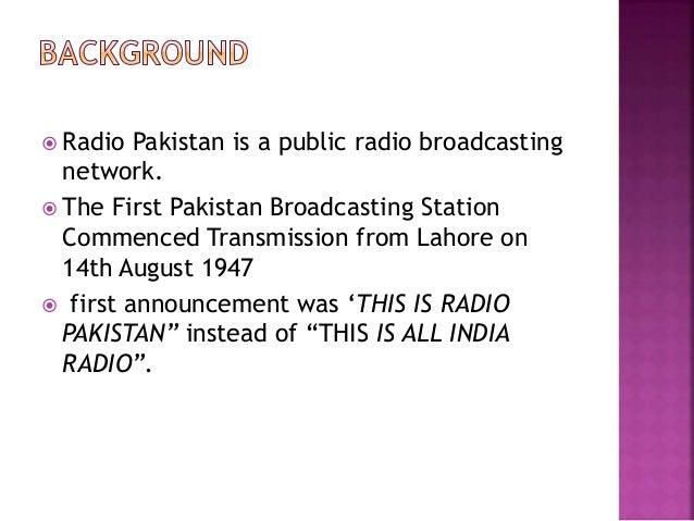 Pakistan broadcasting corporation presentation