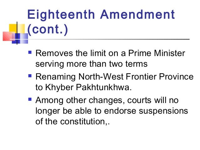 what does the eighteenth amendment mean