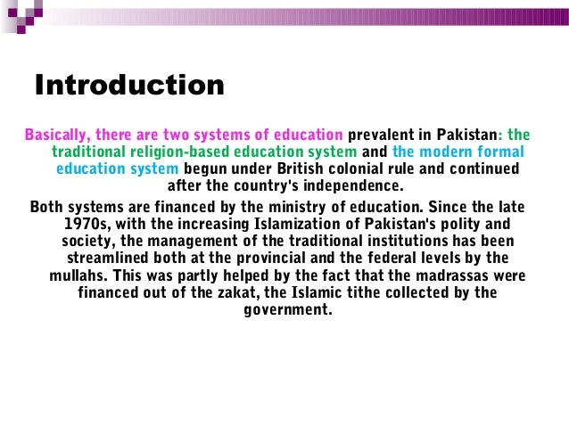 History of Education in Pakistan