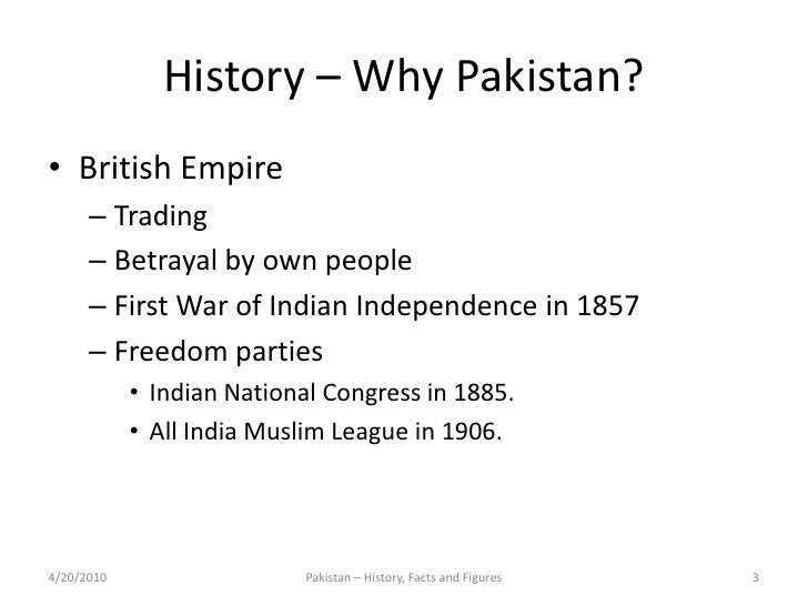 Pakistan History Facts And Figures