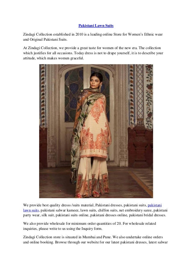 b5d48064bd Latest Pakistani Lawn Suits Designs