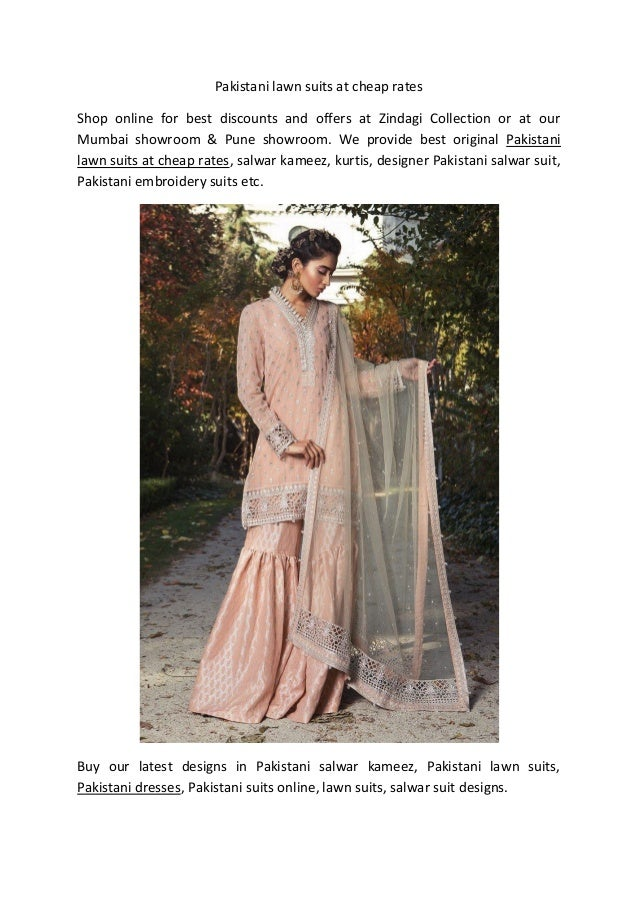 606c27e2cc Pakistani lawn suits at cheap rates Shop online for best discounts and  offers at Zindagi Collection ...