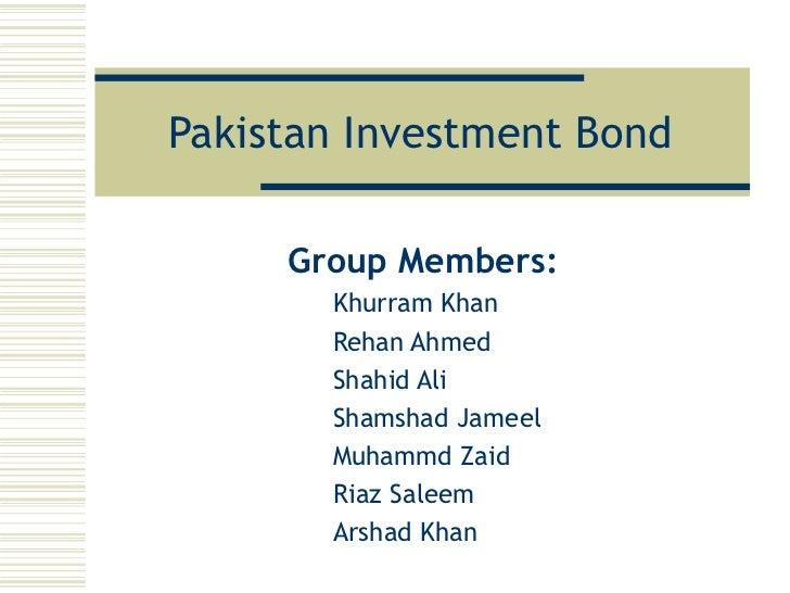 Pakistan Investment Bonds (PIBs)