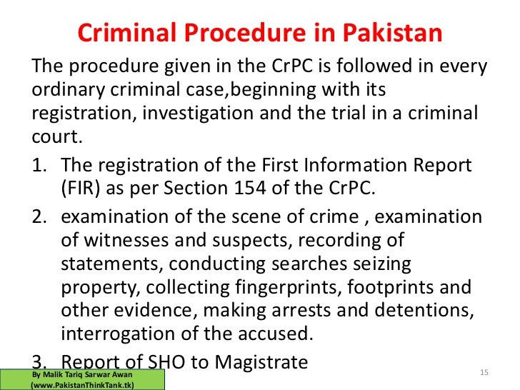 CRIMINAL PROCEDURE CODE PAKISTAN EPUB