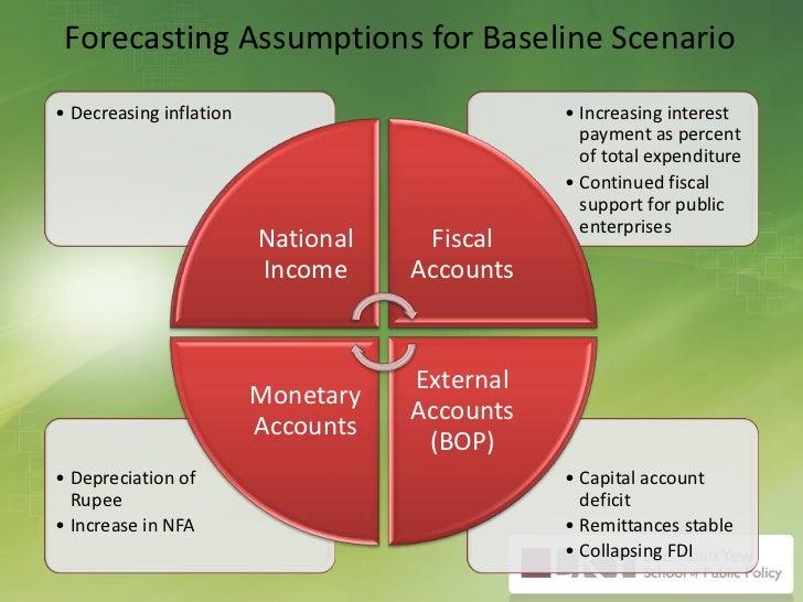 Forecasting Assumptions for Baseline Scenario<br />