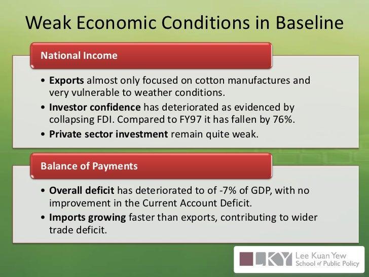 Weak Economic Conditions in Baseline<br />