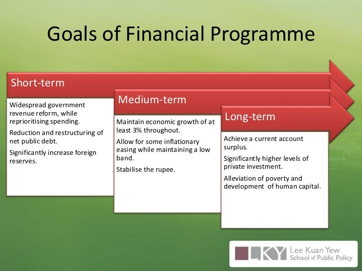 Goals of Financial Programme<br />