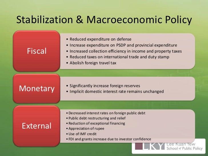 Stabilization & Macroeconomic Policy<br />