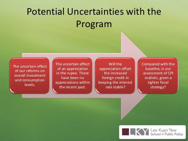 Potential Uncertainties with the Program<br />