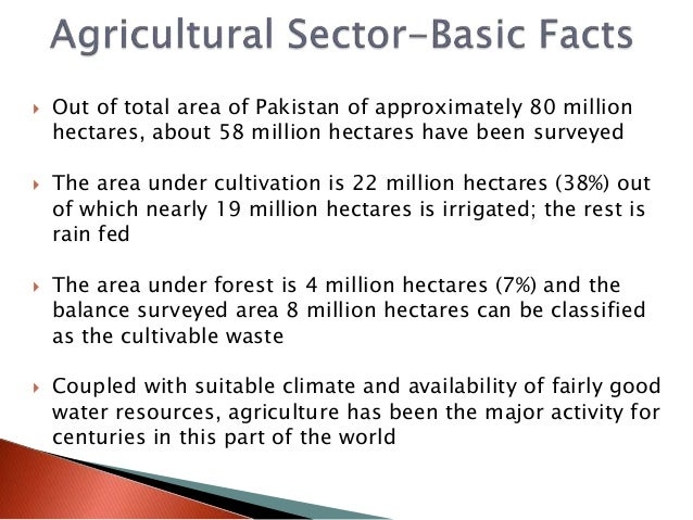 agriculture resources of pakistan Latest news and information from the world bank and its development work in pakistan access pakistan's economy facts, statistics, project information, development research from experts and latest news.