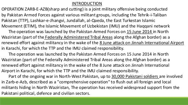 essay on operation zarb e azb