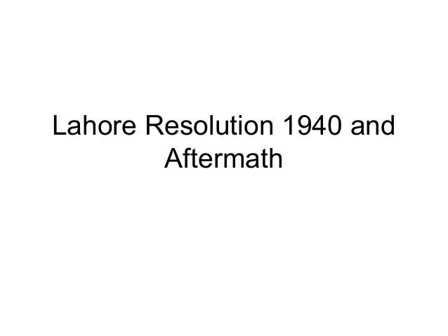 Lahore Resolution (1940)