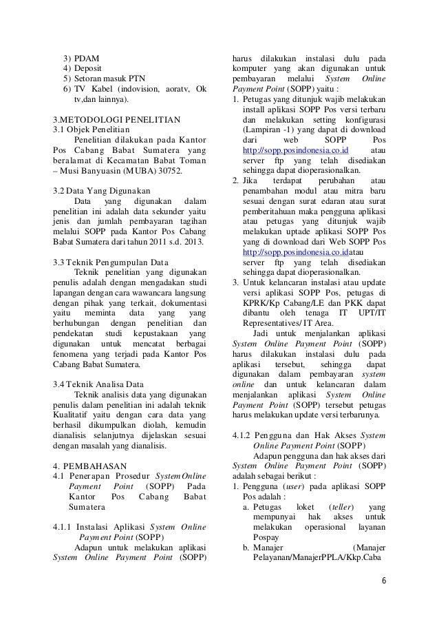 Pak masri-Penerapan System Online Payment Point (SOPP)