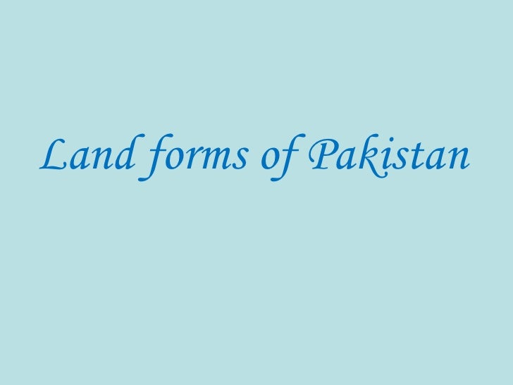 Land forms of Pakistan