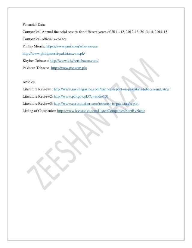 pakistan tobacco company annual report 2011