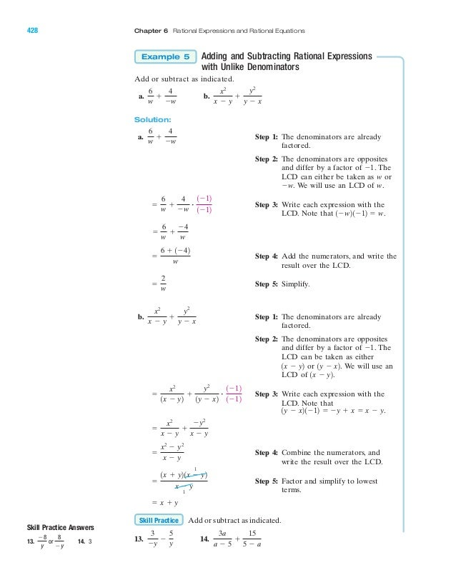 Adding And Subtracting Rational Expressions Worksheet Answers 8 2 ...