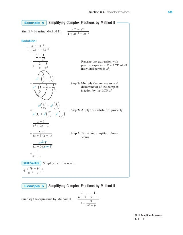 Rational expressions and rational equations – Complex Rational Expressions Worksheet