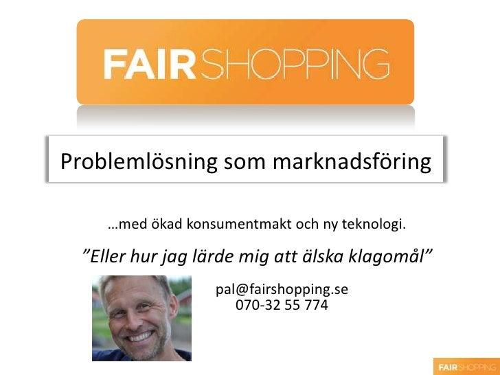 Tendensdagen 2010 Pål Burman