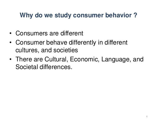 why we study consumer behaviour