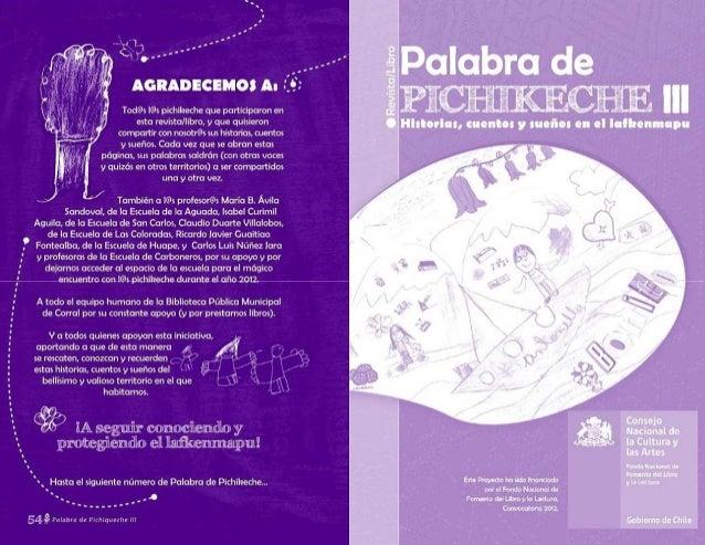 Palabra de pichikeche III