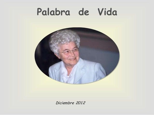Palabra de Vida   Diciembre 2012