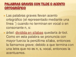 Palabras graves