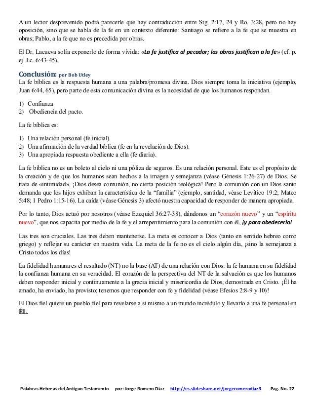 Palabras Hebreas del Antiguo Testamento por: Jorge Romero Díaz http://es.slideshare.net/jorgeromerodiaz3 Pag. No. 22 A un ...