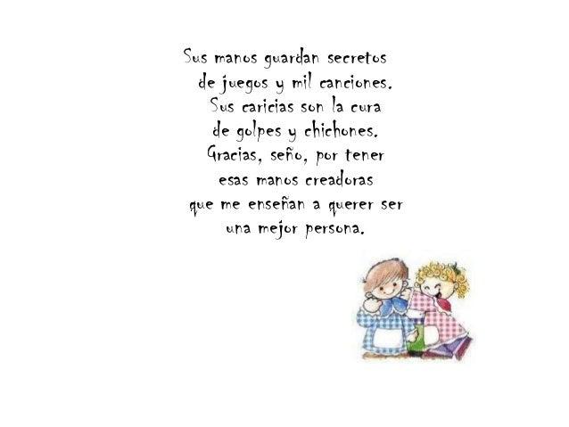 Palabras para maestras for Cancion para saludar al jardin de infantes