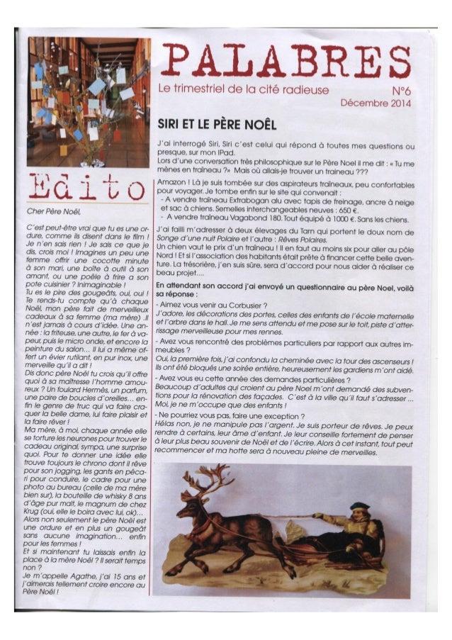 Palabres numero 6 - Le journal de la Cité Radieuse de Marseille