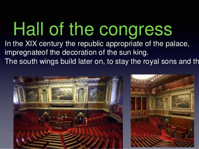 Hall of the congress In the XIX century the republic appropriate of the palace, impregnateof the decoration of the sun kin...