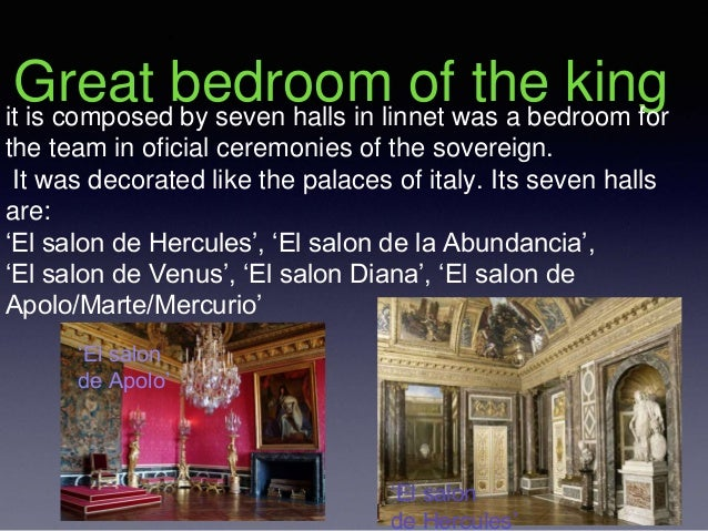 Great bedroom of the kingit is composed by seven halls in linnet was a bedroom for the team in oficial ceremonies of the s...