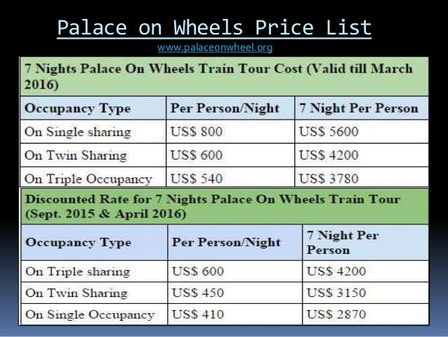 Palace On Wheels Cost Upcomingcarshq Com