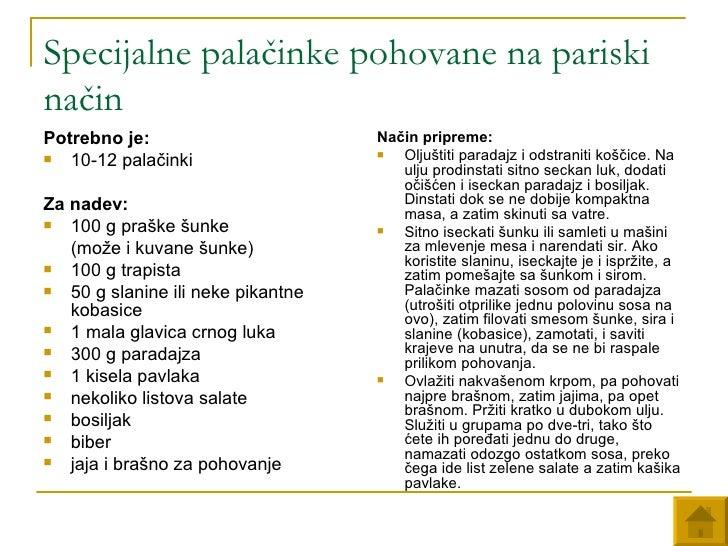 Specijalne palačinke pohovane na pariski način <ul><li>Potrebno je:   </li></ul><ul><li>10-12 palačinki  </li></ul><ul><li...
