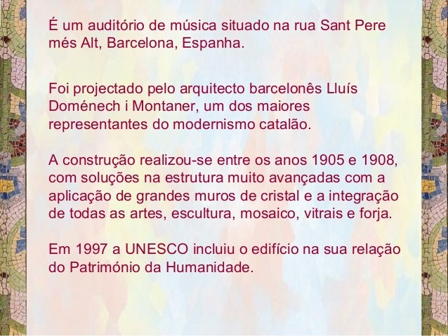 Palacio da musica barcelona Slide 3