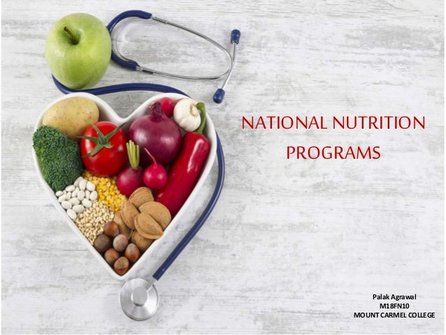 NATIONAL NUTRITION PROGRAMS Palak Agrawal M18FN10 MOUNT CARMEL COLLEGE