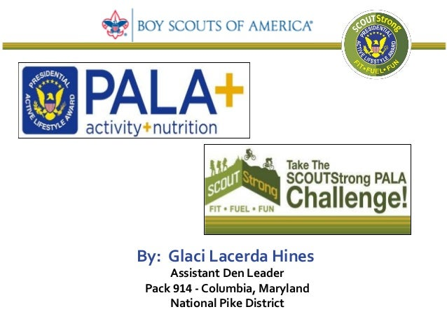 By: Glaci Lacerda Hines     Assistant Den Leader Pack 914 - Columbia, Maryland     National Pike District