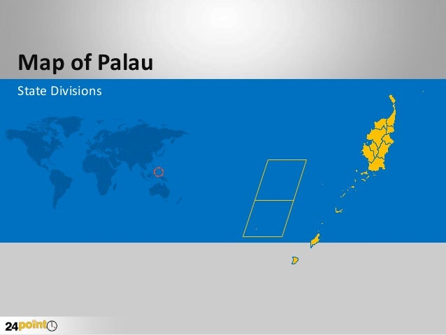 Map of Palau State Divisions