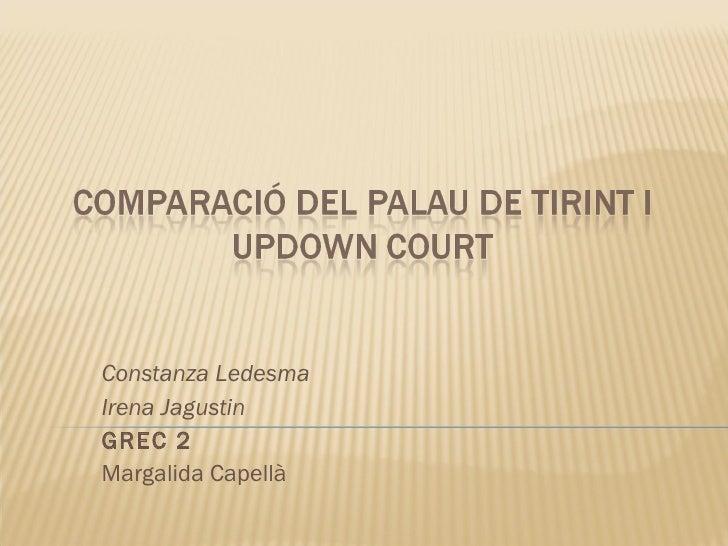 Constanza Ledesma Irena Jagustin GREC 2 Margalida Capellà