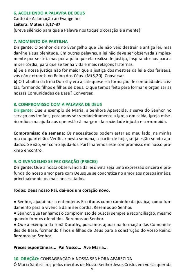 10 imagem de Aparecida, espalhais inúmeros benefícios sobre todo o Brasil. Eu, embora indigno de pertencer ao número de vo...