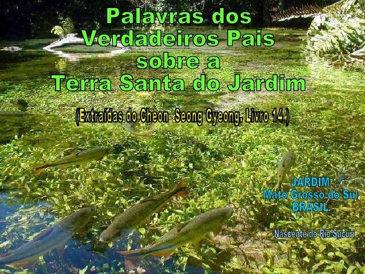 JARDIM Mato Grosso do Sul BRASIL Nascente do Rio Sucuri Palavras dos  Verdadeiros Pais  sobre a  Terra Santa do Jardim (Ex...