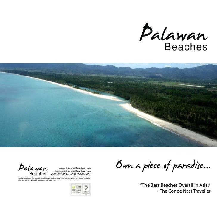 Palawan Beaches Brochure