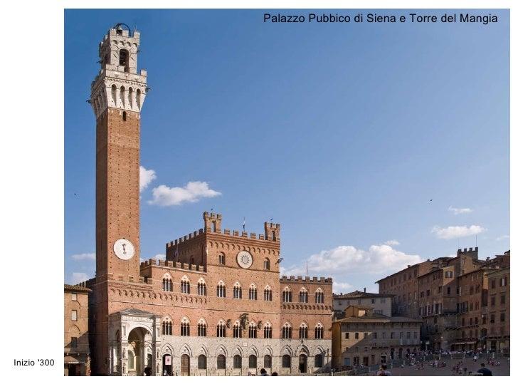 Inizio '300 Palazzo Pubbico di Siena e Torre del Mangia